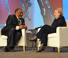 Paul Berry and Madeline Albright